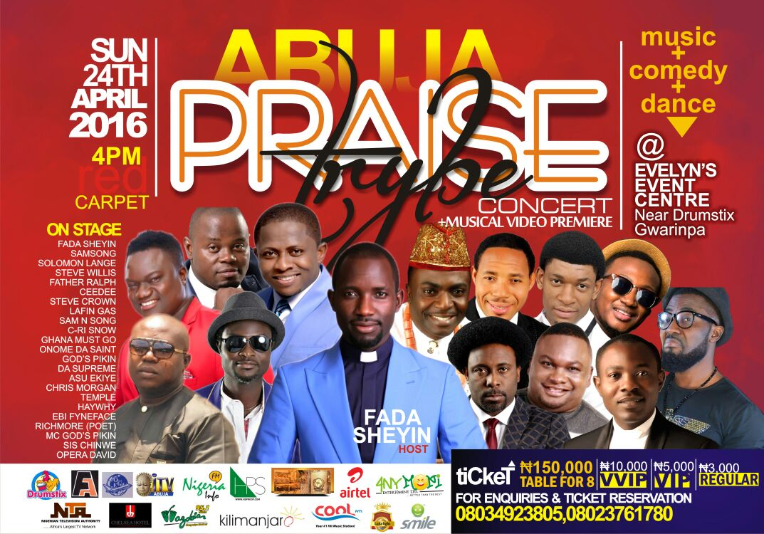 Event: Fada Sheyin Lights The City With Abuja Praise Trybe Concert | Apr. 24th [@fadashey]