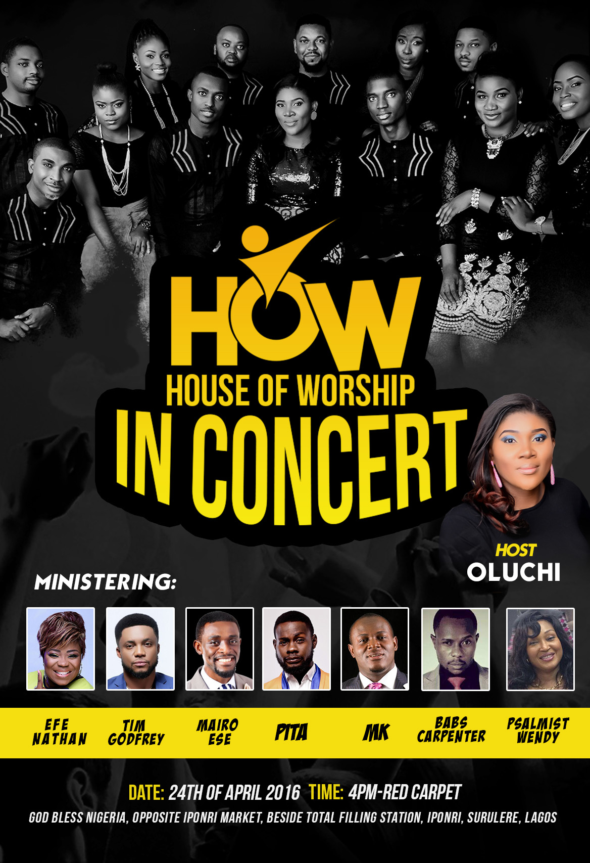 House Of Worship (HOW) In Concert Featuring Efe Nathan, Tim Godfrey, Mairo Ese, PITA, MK, Babs Carpenter & Psalmist Wendy [ @amenradio1 @howcrewlive]