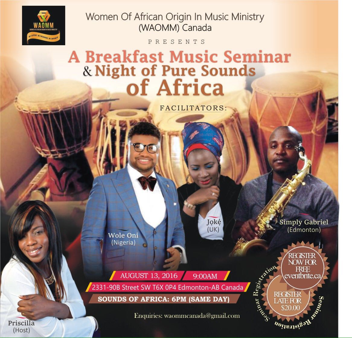 Event: Women Of African Origin In Music Ministry Canada Presents 'Sounds Of Africa' 2016 [@Priscillasingz @Isabellamelodie]