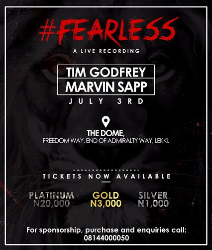 Tim Godfrey & Xtreme Preps For FEARLESS Concert, featuring Bishop Marvin Sapp, July 3rd