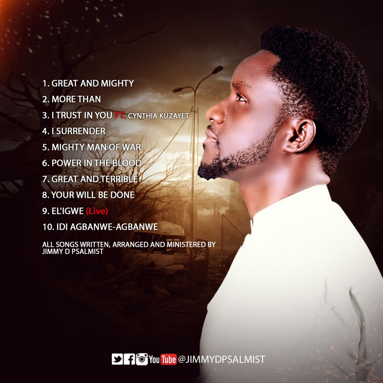 Jimmy D Psalmist Unveils 'Mighty Man Of War' Album Art And