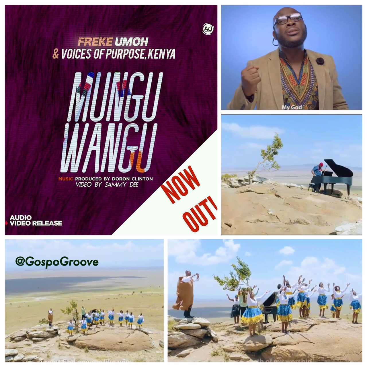Music: Mungu Wangu ~ Freke Umoh & Kenya's Voice of Purpose [@Freke_Live]