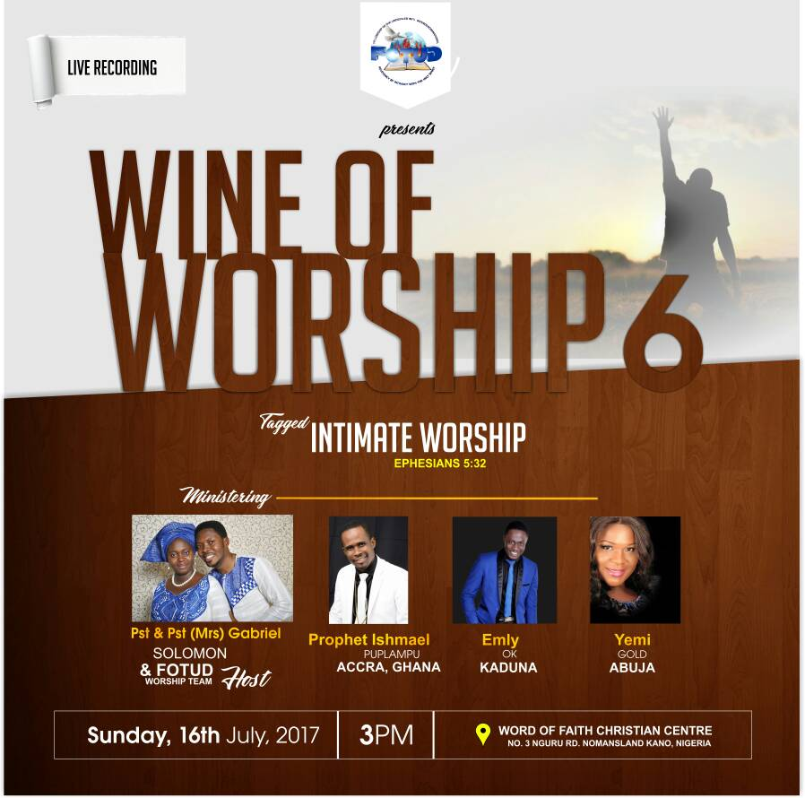Event: FOTUD (Fellowship Of The Undefiled) Presents: Wine of Worship 6 [@FOTUD @Grandmince]