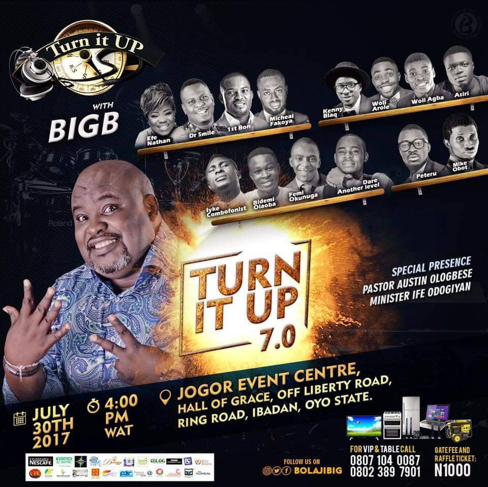 Event: 'Turn It Up' With Big B | 7th Edition [@bolajibig]
