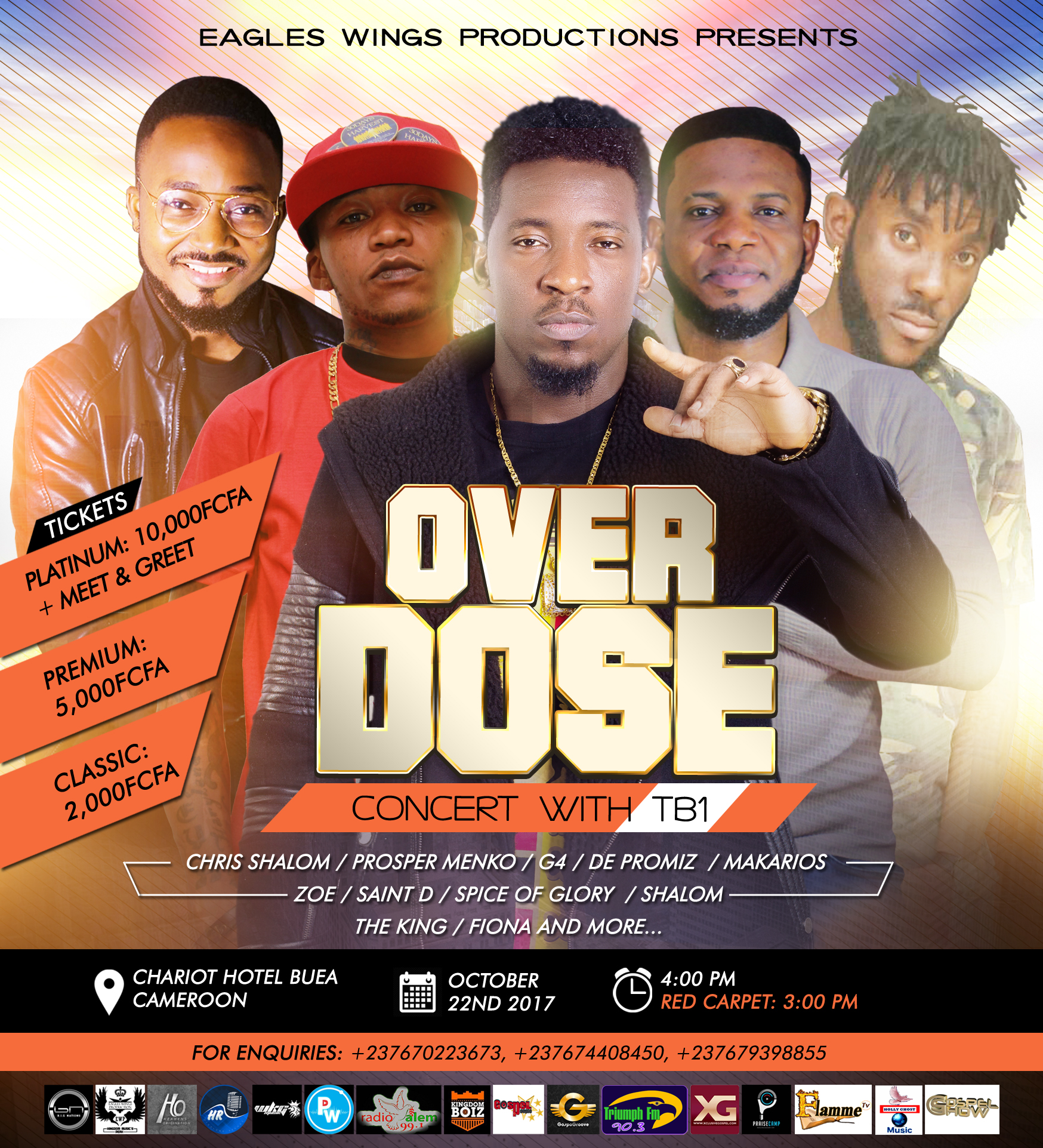 Event: TB1 Presents: Overdose Concert Live In Cameroon [@TheRealTB1]