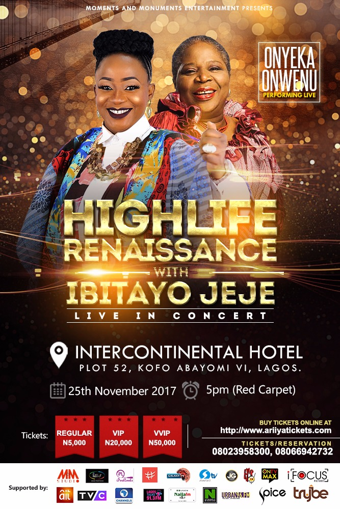 Highlife Renaissance With Ibitayo Jeje Live In Concert | November 25 [@ibitayojeje]