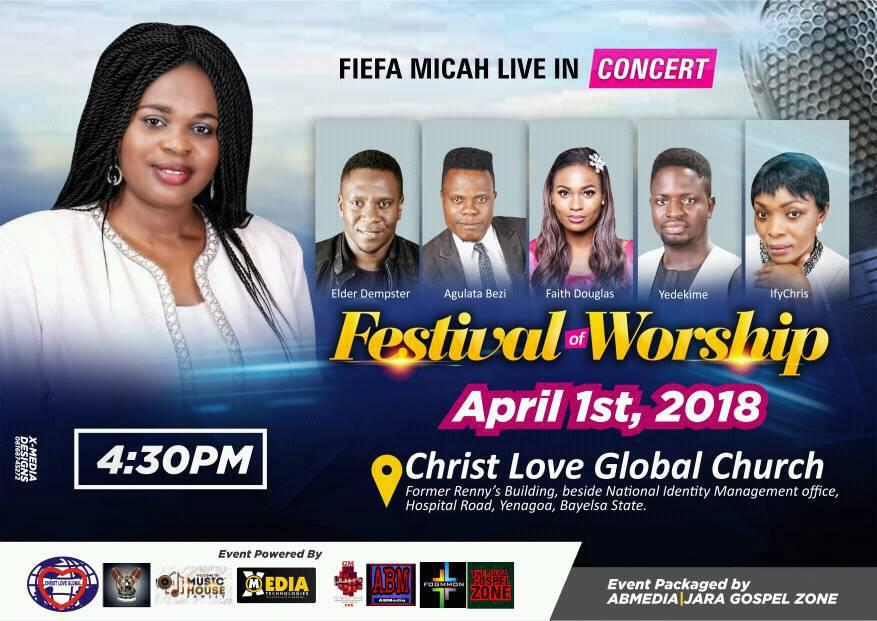 Fiefa Micah Live in Concert 'Festival of Worship' April 1st 2018