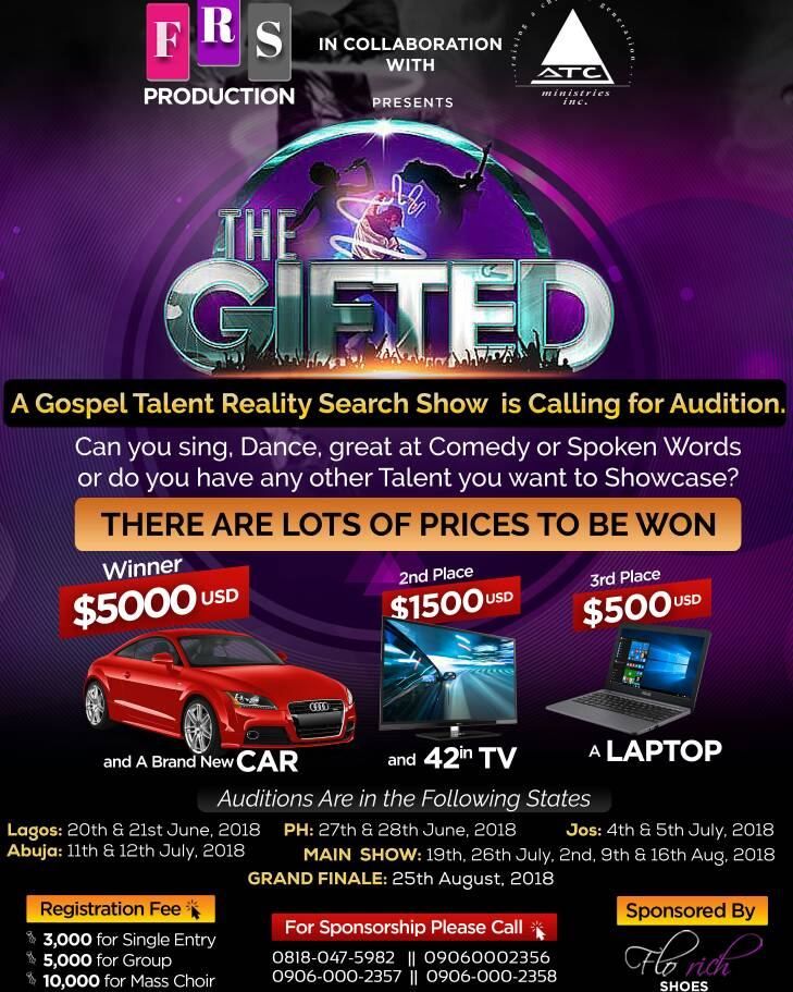 Win Big In 'The Gifted Show' A Gospel Talent Reality Search Show [@the_giftedshow]