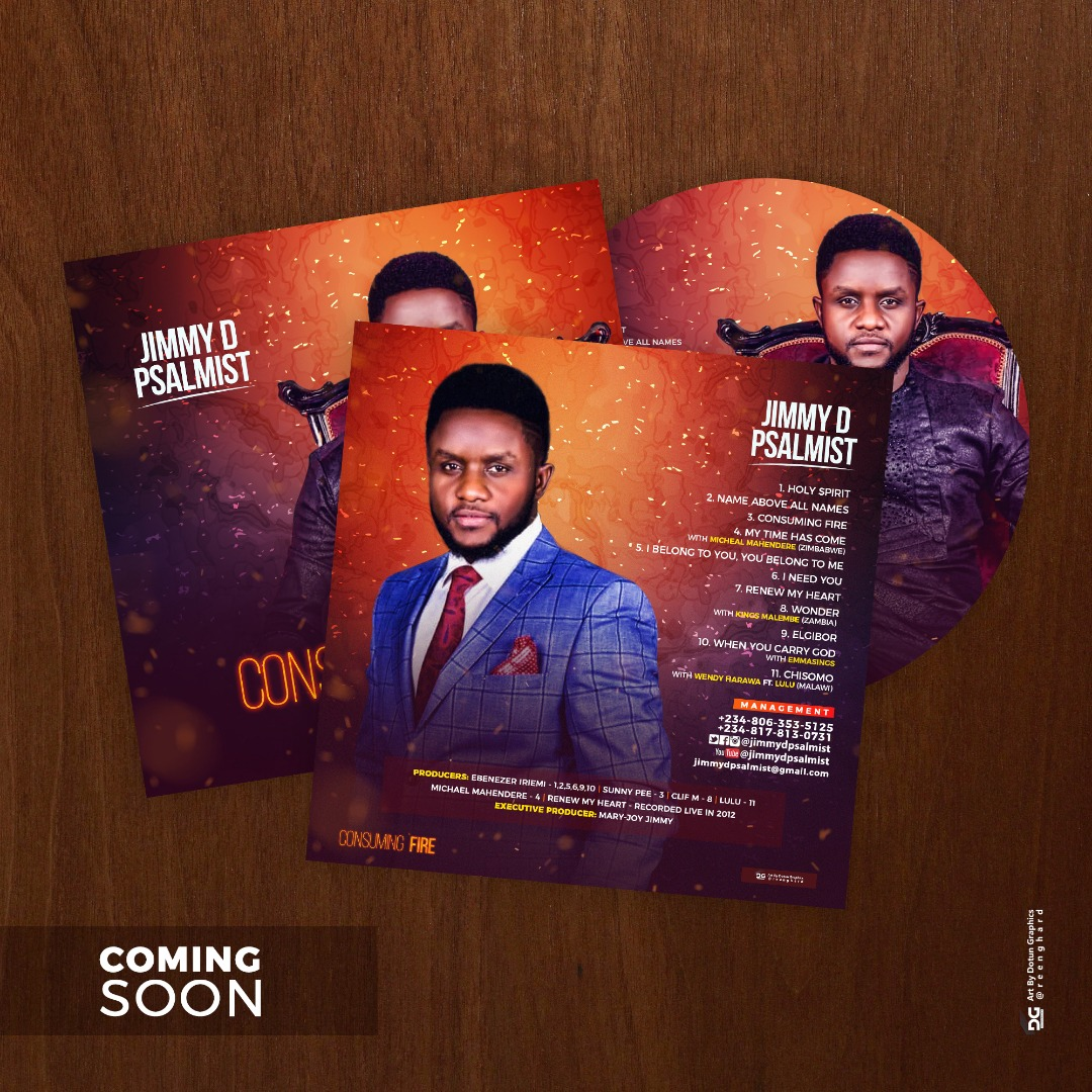 Jimmy D Psalmist Set To Release New Album, 'Consuming Fire'