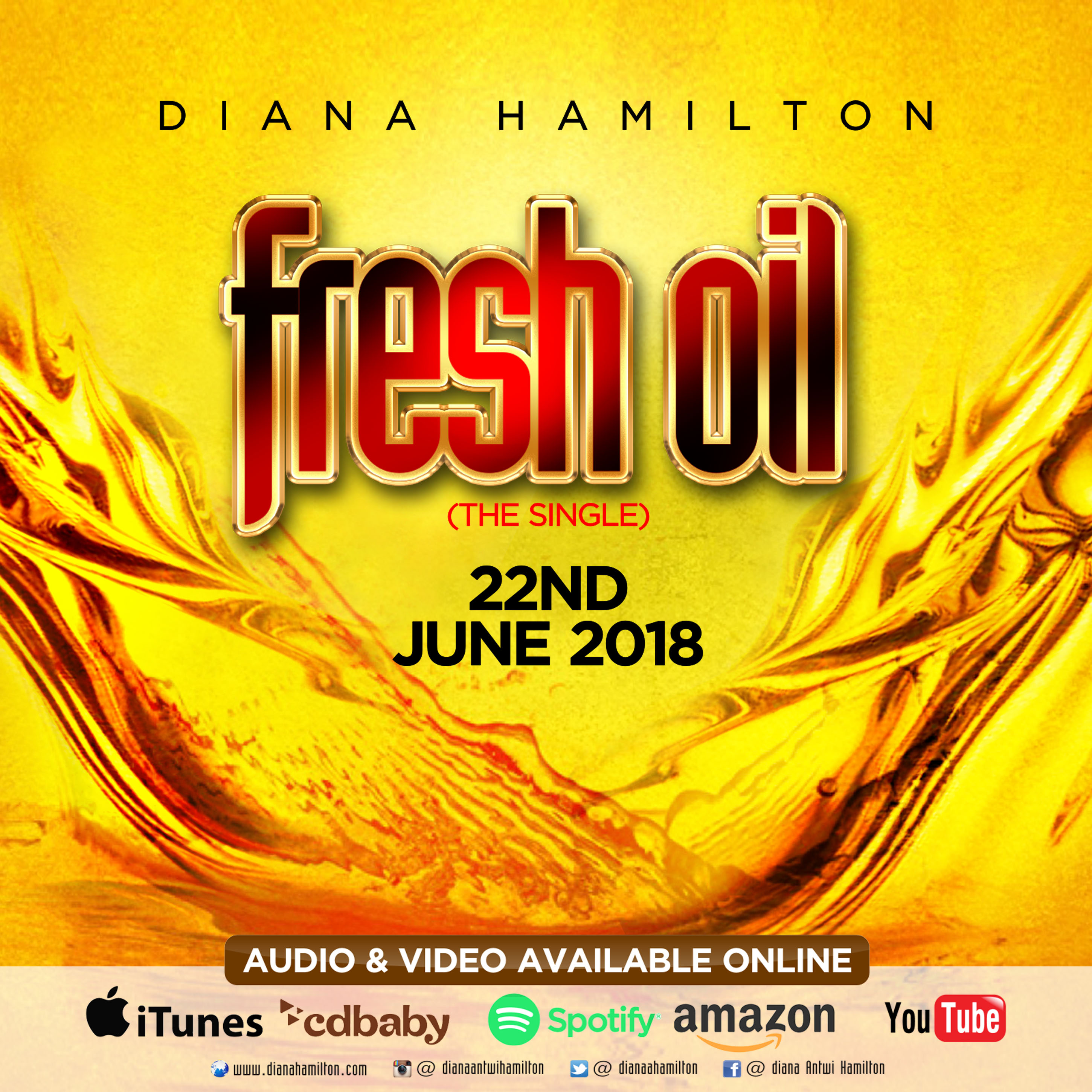 Diana Hamilton To Release 'Fresh Oil' Video And Audio