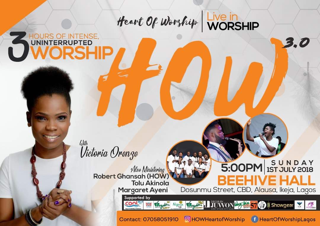 Worship With Victoria Orenze This July At HEART OF WORSHIP